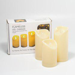 Set of 3pcs Flameless candles for Outdoor Using -