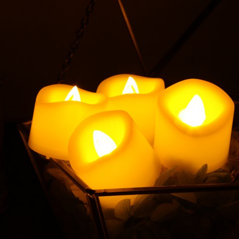 Latest Set of 6pcs Flameless votive candles with top melted edge