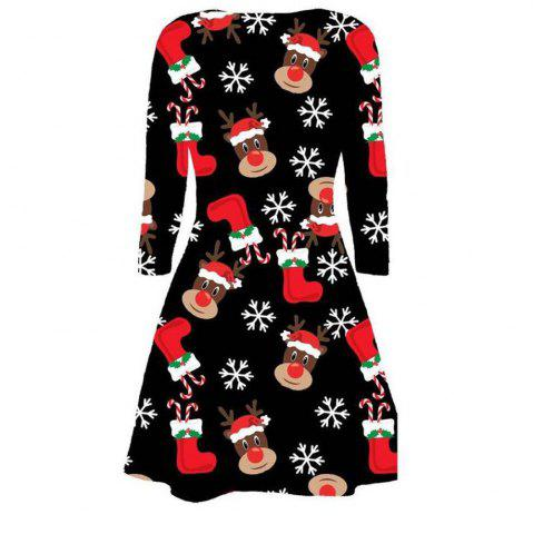 2017 Femmes Causal Fashion Christmas Dress