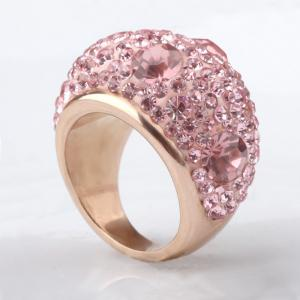 New Diamond Ring Women Rose Gold Stainless Steel Jewelry Gift -