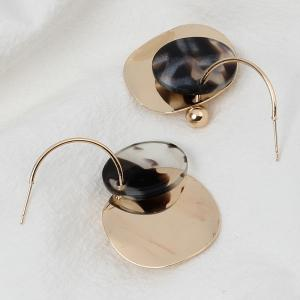 Irregular Sequined Geometric Resin Fashion Multi-layered Round Earrings -