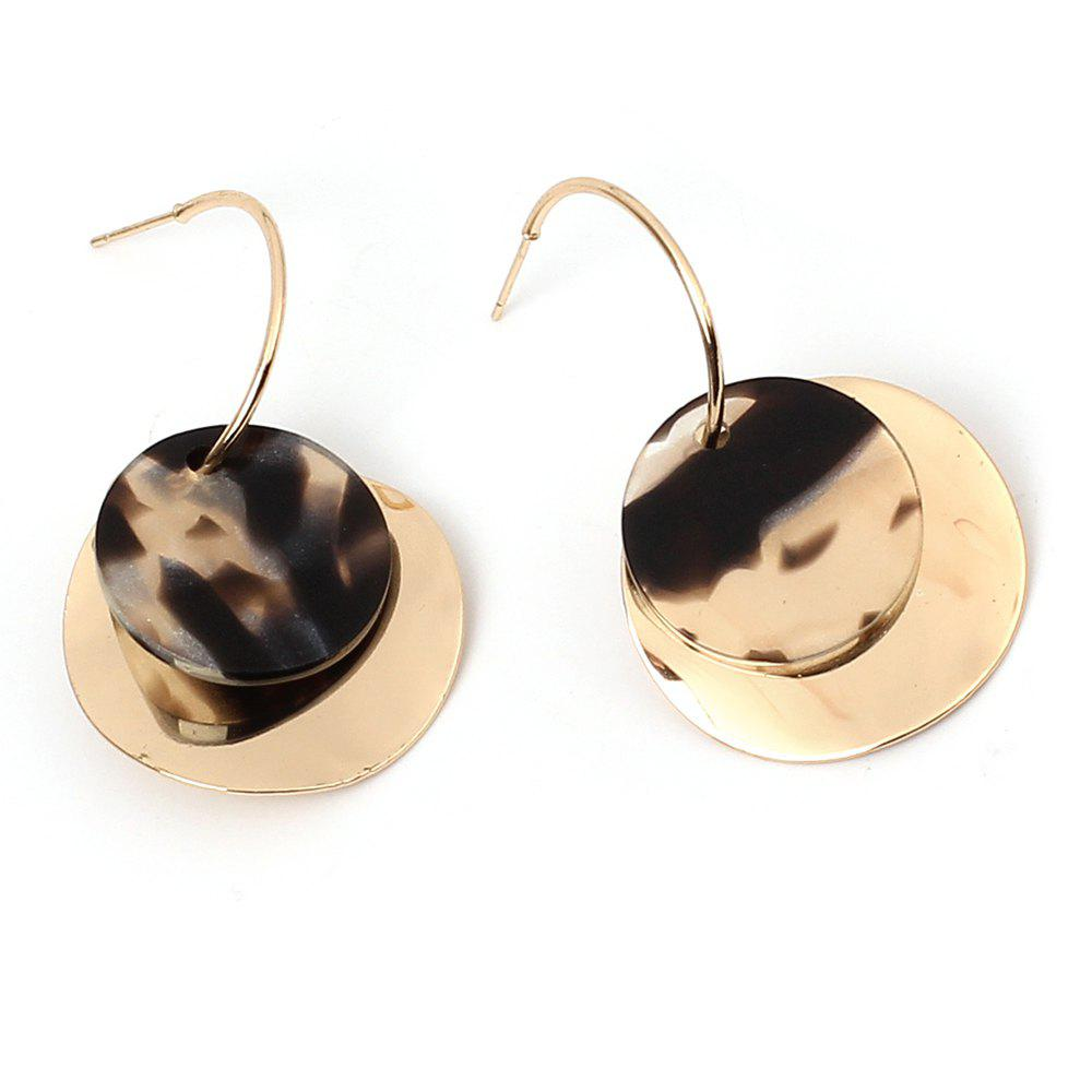 Best Irregular Sequined Geometric Resin Fashion Multi-layered Round Earrings