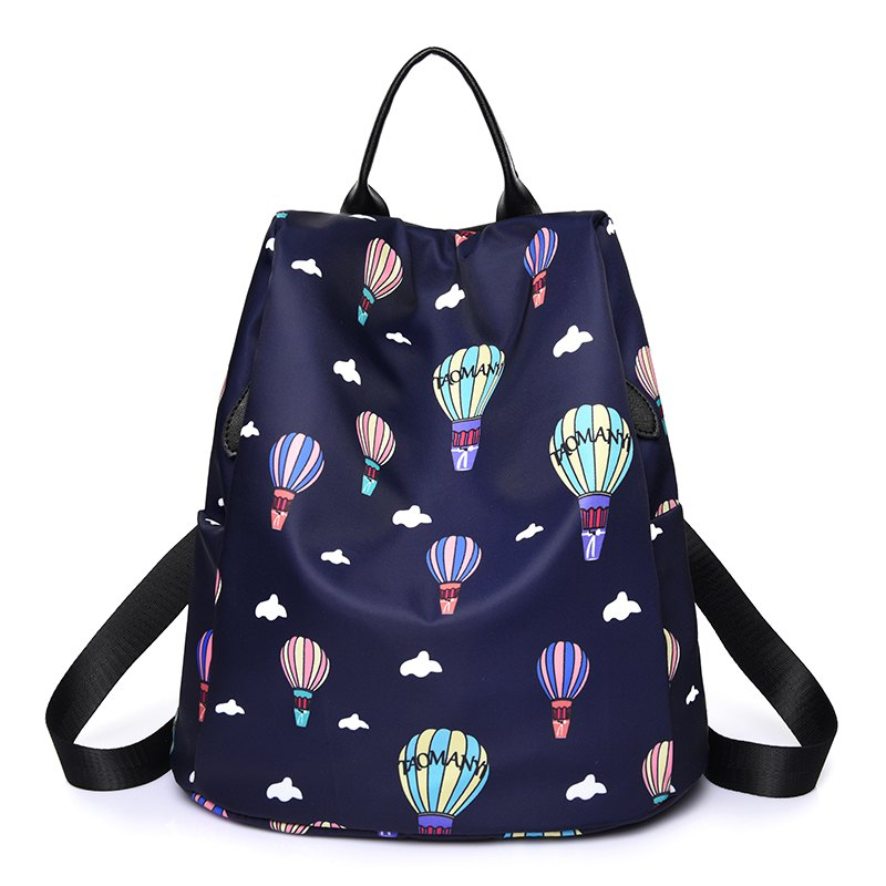Outfit Women Nylon Fabric Backpack Fashion Printing Balloon Bags