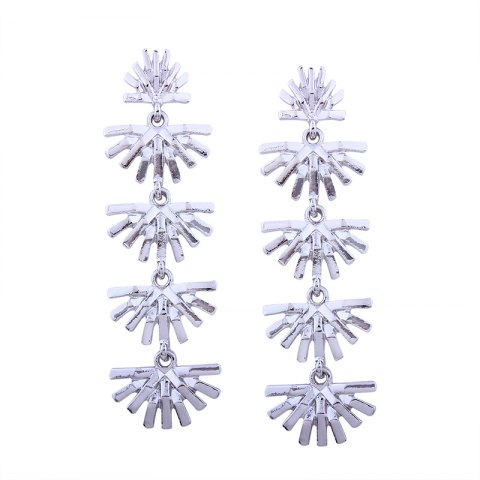 Outfits Geometric Hollowing Out Long Alloy Earrings