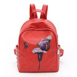 Backpack Female New Butterfly Printing Fashion Bag -