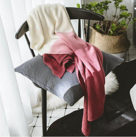 Fancy Cotton Pure Color Gradient Wool Knit Casual Blanket