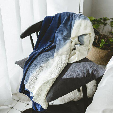 Chic Cotton Pure Color Gradient Wool Knit Casual Blanket