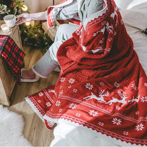 Cheap Christmas Style Red Knitwear With A Casual Blanket