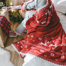 Christmas Style Red Knitwear With A Casual Blanket -