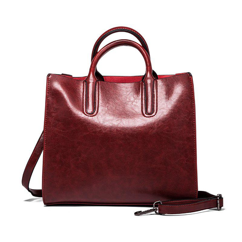 Outfits Las Fashion Old Wax Leather Square Handbag