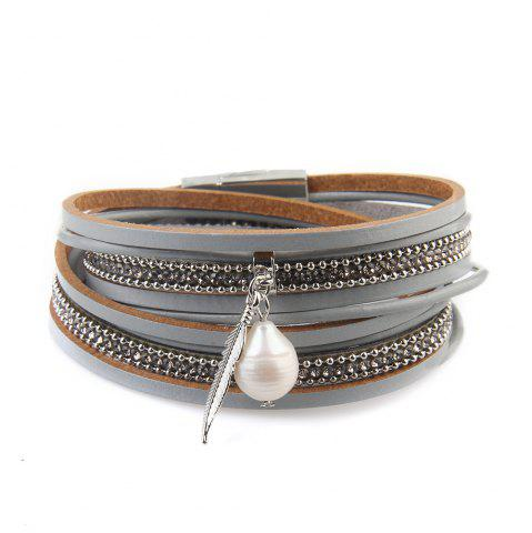 Cheap New Ornaments Fashion Summer Multilevel Pearls and Feather Bracelets