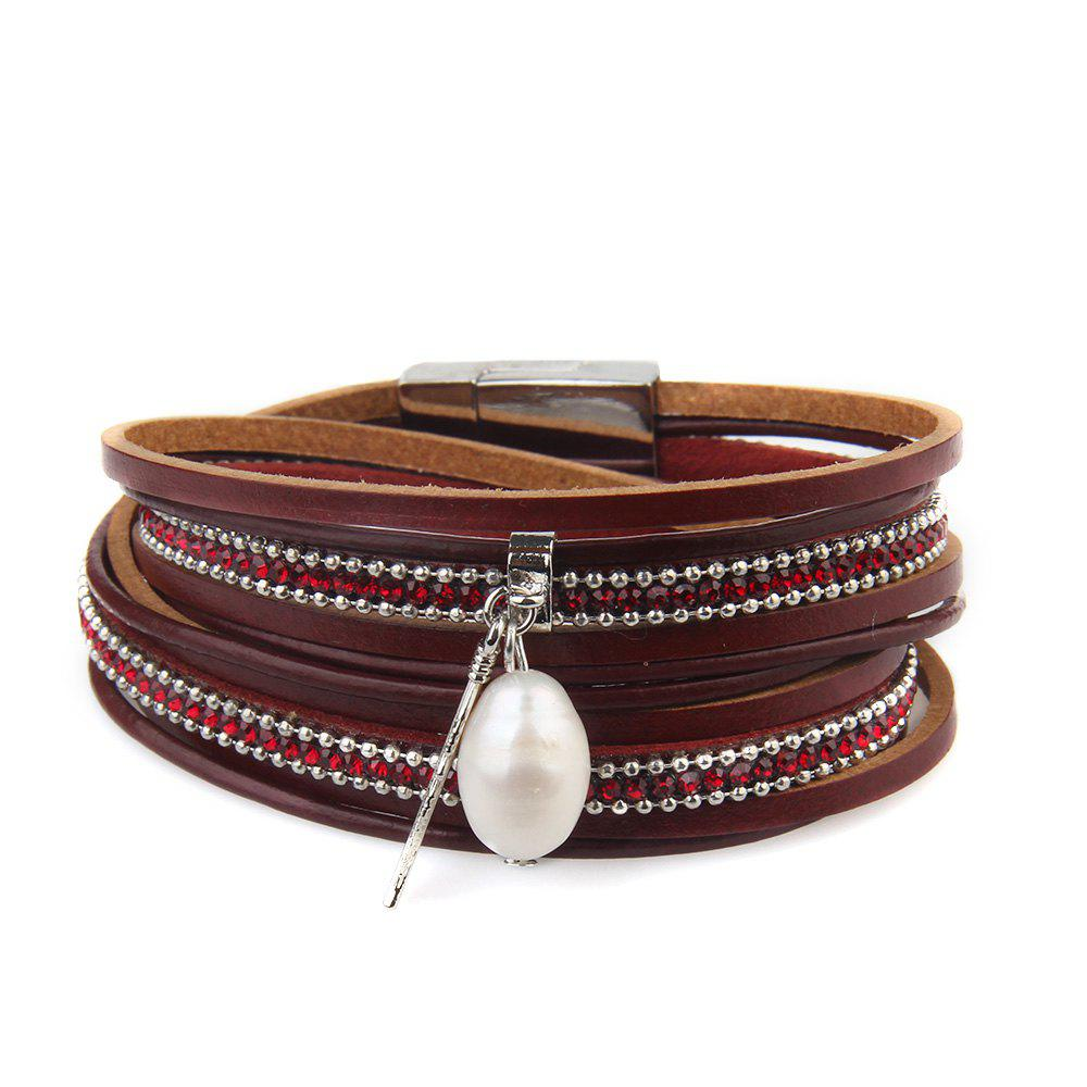Unique New Ornaments Fashion Summer Multilevel Pearls and Feather Bracelets