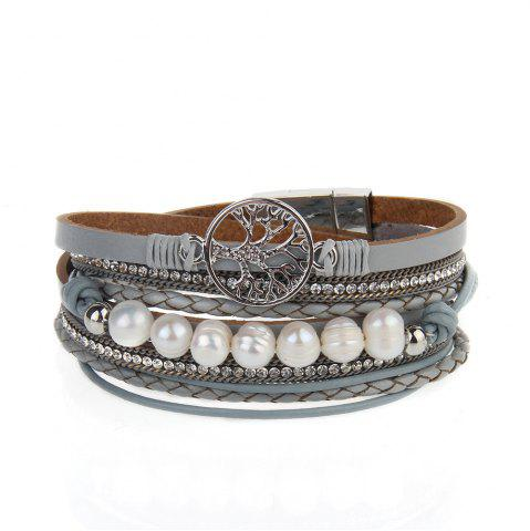 Shops Hot Selling Fashion Ornaments Life Tree Multi Layer Pearls Bracelet