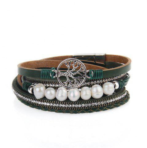 Shop Hot Selling Fashion Ornaments Life Tree Multi Layer Pearls Bracelet