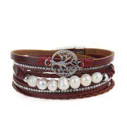Hot Selling Fashion Ornaments Life Tree Multi Layer Pearls Bracelet -