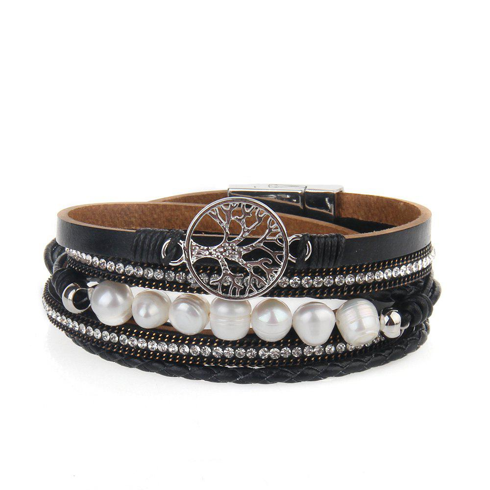 Store Hot Selling Fashion Ornaments Life Tree Multi Layer Pearls Bracelet