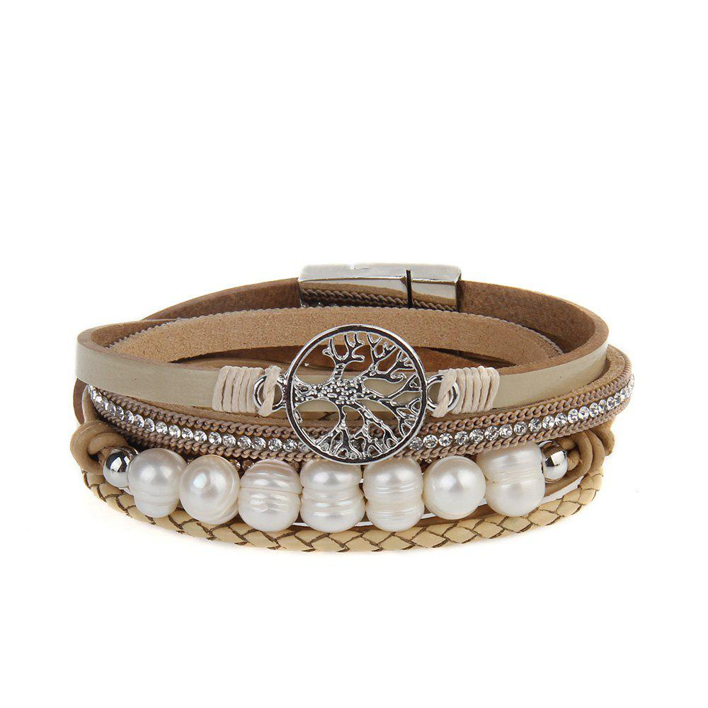 Affordable Hot Selling Fashion Ornaments Life Tree Multi Layer Pearls Bracelet
