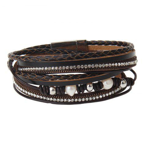 Shops New Jewelry Fashion Magnet Buckle Multi Layer Pearls Bracelet