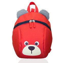Cute Bear Shaped Striped Ears Patchwork Backpack -