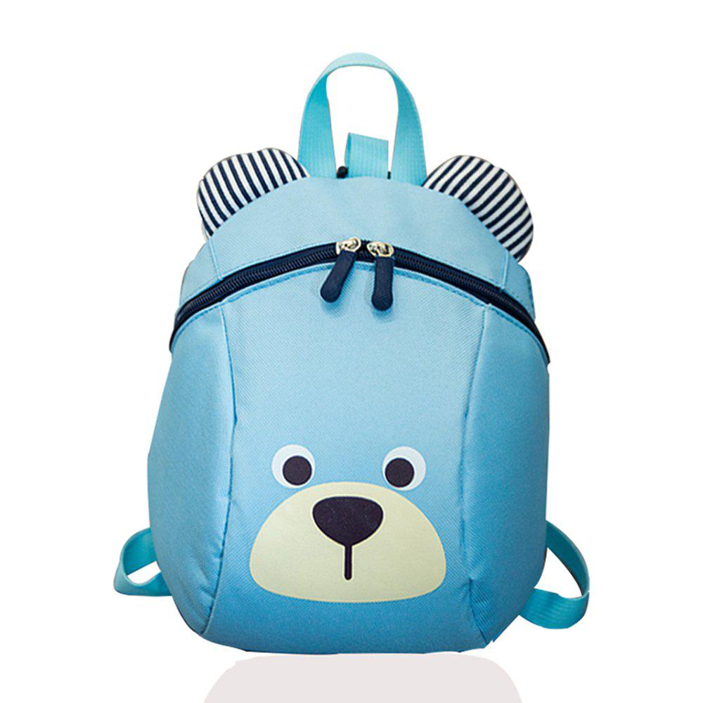 Outfit Cute Bear Shaped Striped Ears Patchwork Backpack