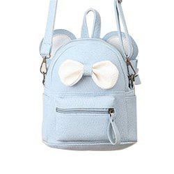 Girl Mini Backpack Cute Bow Ornament Kid School Bag -