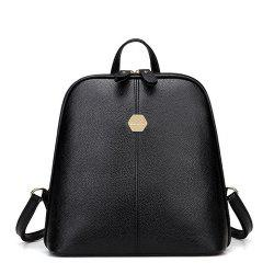 Women's Backpack Brief Style Classy All Match Zipper Bag -