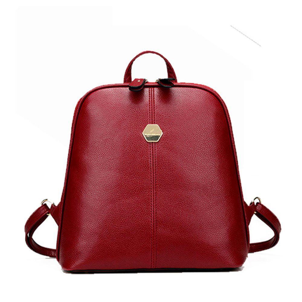 Fashion Women's Backpack Brief Style Classy All Match Zipper Bag