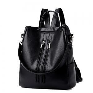 Women's Backpack Solid Color Large Capacity All Matched Versatile Bag -