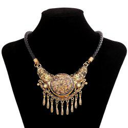 Women Vintage Big Pendants String Necklace Fashion Jewelry Choker -