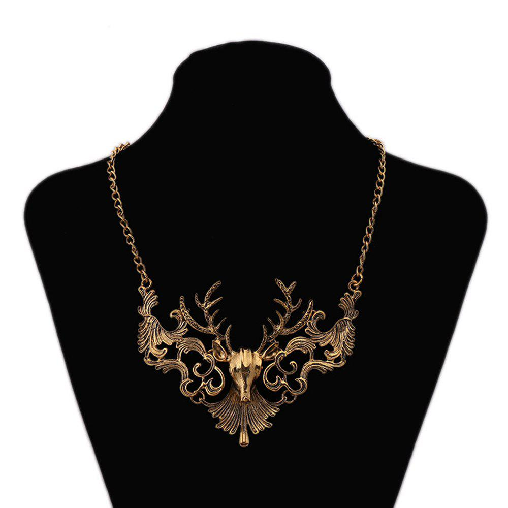 Unique Women Vintage Elk Pendants Necklace Fashion Jewelry Choker
