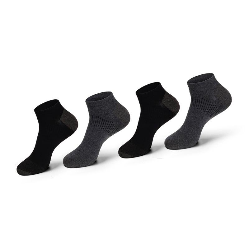 Unique Men Casual Tube Business Anti-odor Ankle Combed Cotton Socks Four Pair Gift Box
