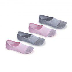 Gift Box Four Pair Women Shallow Silica Gel Antiskid and Anti-microbico Invisible Socks -