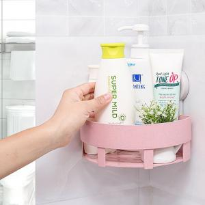 Powerful Suction Cup Wall-hang Triangular Bathroom Shelf -