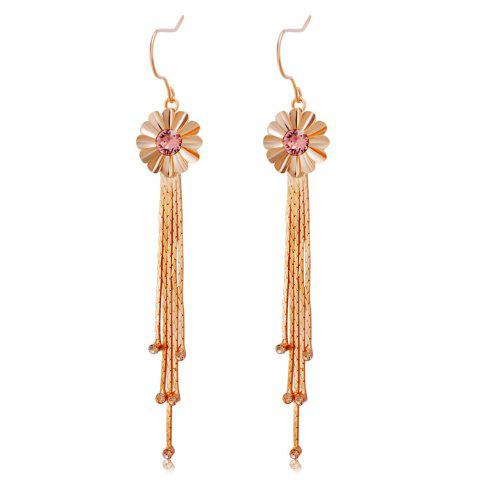 Sale Tassel Flower Rose Gold Pendant Earrings