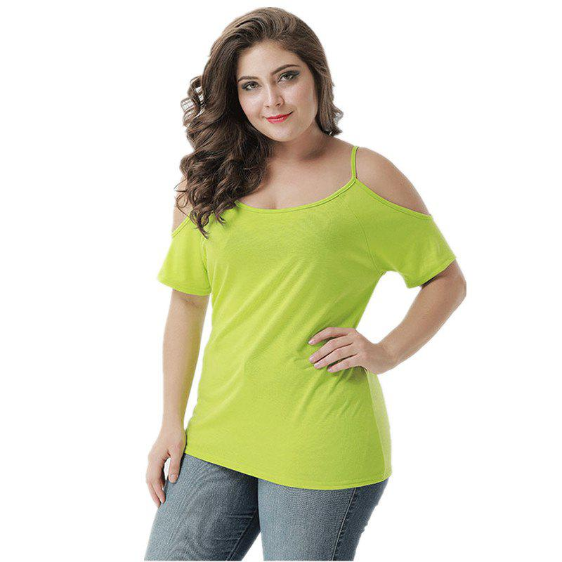 New Round Collar Camisole Solid Color T-Shirt