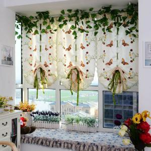 Water soluble embroidery little butterfly living room curtains -