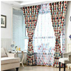 Geometric Triangle Shading Curtain -