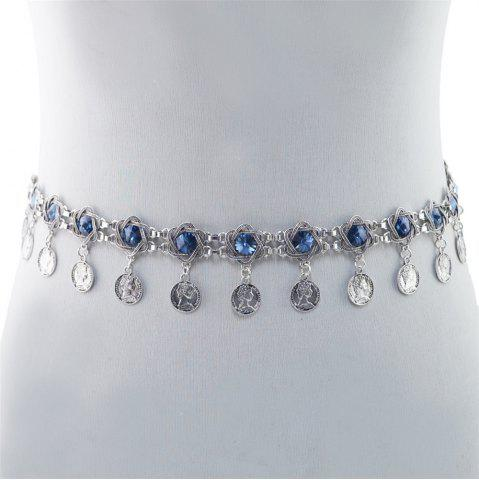 Buy 3 Styles Pearl diamond silver plated gold plated trendy Flower Waist chain Jewelry