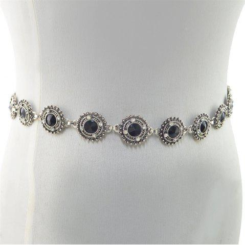 Discount 3 Styles Pearl diamond silver plated gold plated trendy Flower Waist chain Jewelry