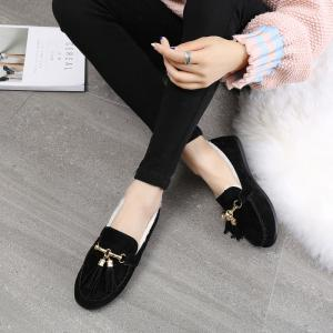 2017 Autumn and Winter New Casual Flat with Velvet Peas Shoes -