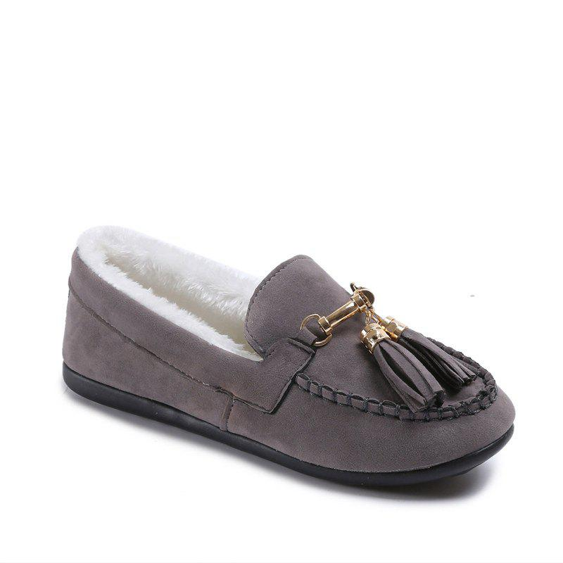 Fashion 2017 Autumn and Winter New Casual Flat with Velvet Peas Shoes