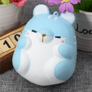Cute Kawaii Soft Squishy Squishi Colorful Simulation Hamster Toy Slow Rising for Relieves Stress Anxiety Home Decoration -