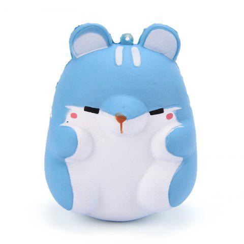 Unique Cute Kawaii Soft Squishy Squishi Colorful Simulation Hamster Toy Slow Rising for Relieves Stress Anxiety Home Decoration