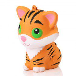 Animal Kawaii Squishy Tiger Doll Squeeze Bread Super Slow Rising Phone straps Soft Scented Cake Toys Gift - Light Brown