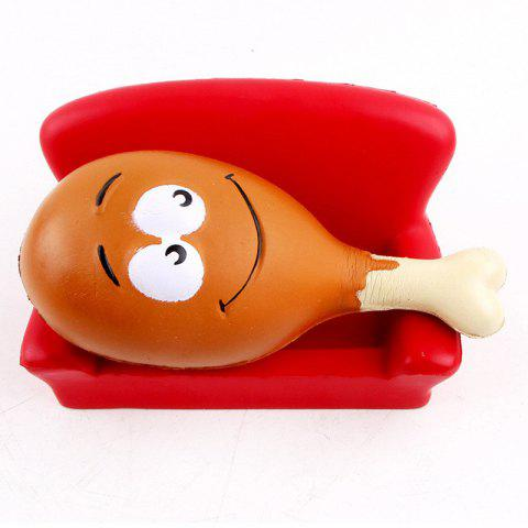 Outfit 15CM Chicken Leg Smile Face Phone Accessories Squishy Stress Stretch Scented Squeeze Soft Slow Rising Kid Toy