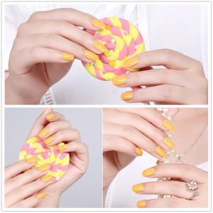 NewArtist Pure Color UV LED Nail Gel Polish Lemon Yellow Series 30S Fast Drying Long Lasting Sock Off 7Ml -