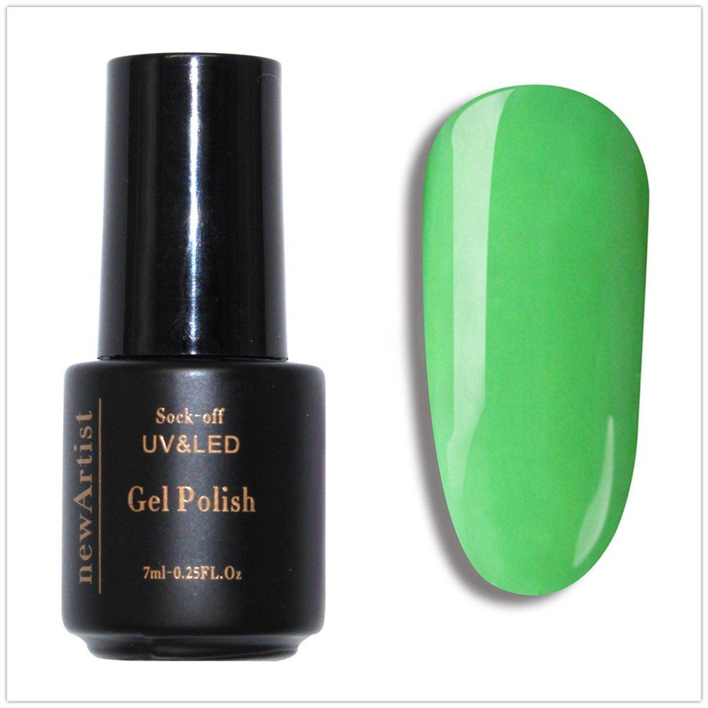 Sale NewArtist Pure Color UV LED Nail Gel Polish Green Lemon Color Series 30S Fast Drying Long Lasting Sock Off 10Ml