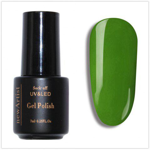 Fancy NewArtist Pure Color UV LED Nail Gel Polish Mustard Green Series 30S Fast Drying Long Lasting Sock Off 7Ml