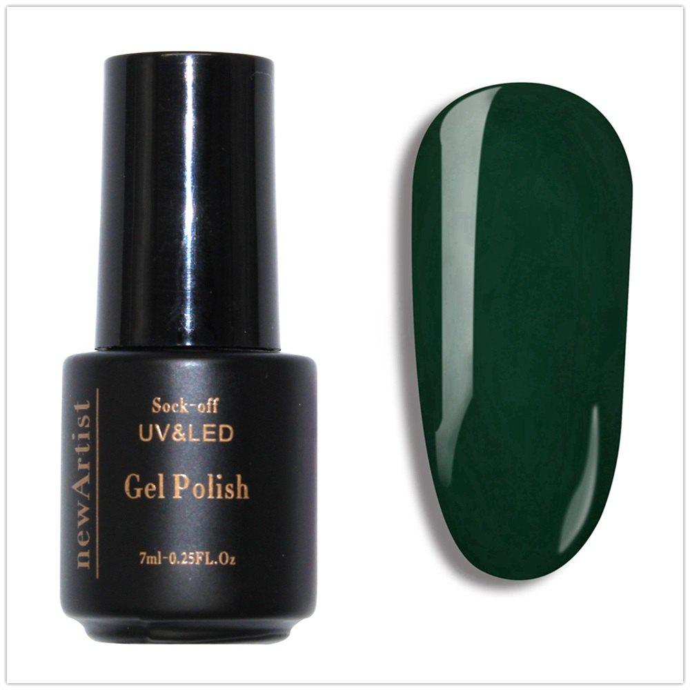 Discount NewArtist Pure Color UV LED Nail Gel Polish Mustard Green Series 30S Fast Drying Long Lasting Sock Off 7Ml