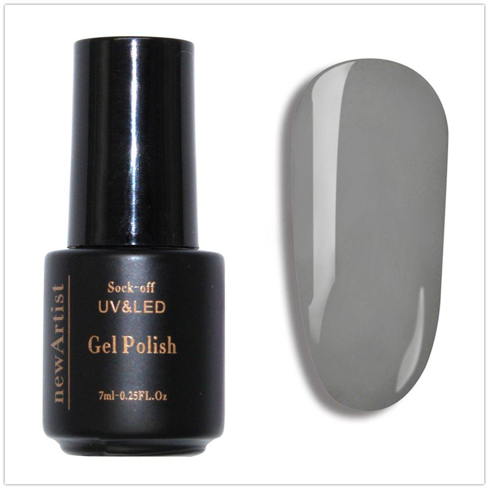 Trendy NewArtist Pure Color UV LED Nail Gel Polish French Grey Series 30S Fast Drying Long Lasting Sock Off 7Ml
